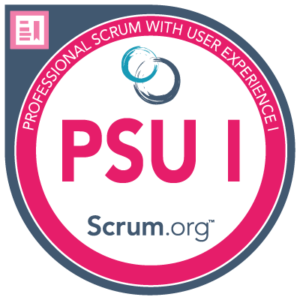 Professional Scrum With User Experience Certification Logo PSU